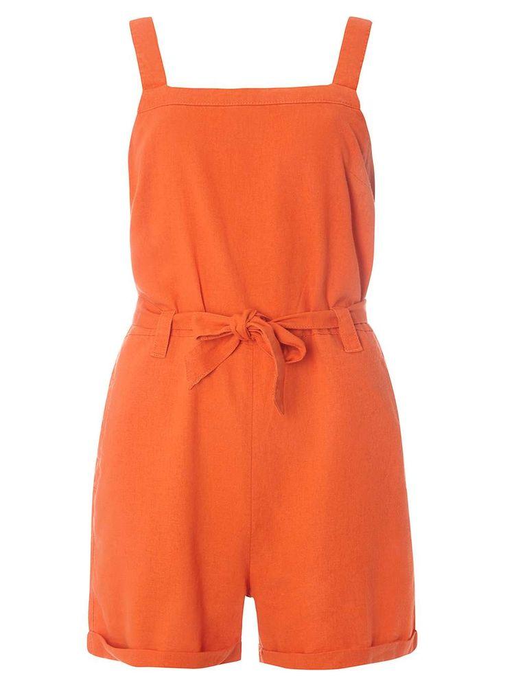 Orange Linen Playsuit