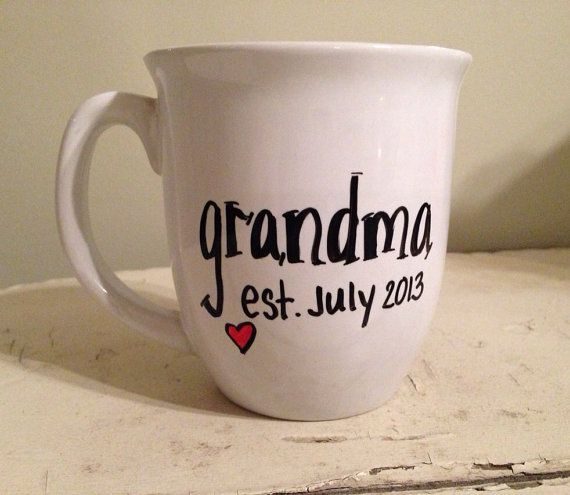 Pregnancy announcement mug, grandma mug, grandpa mug, grandparent mug ...