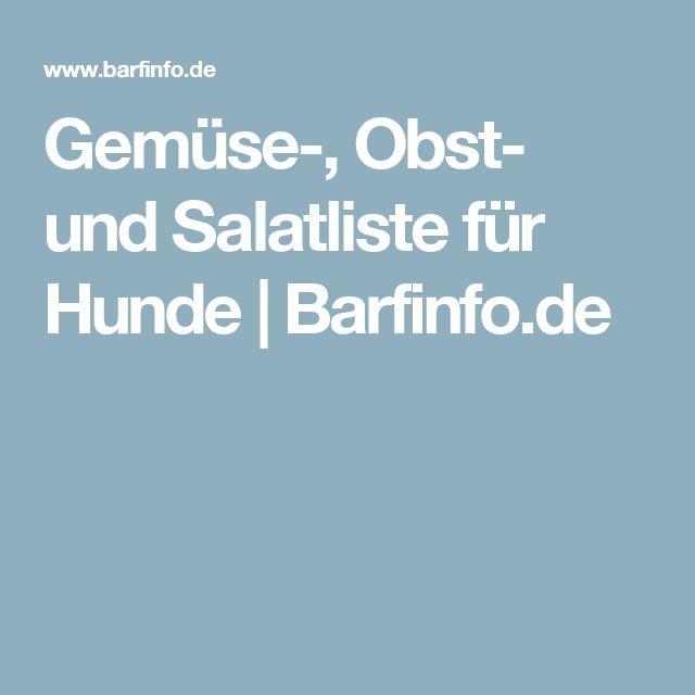 Gemüse-, Obst- und Salatliste für Hunde | Barfinfo.de
