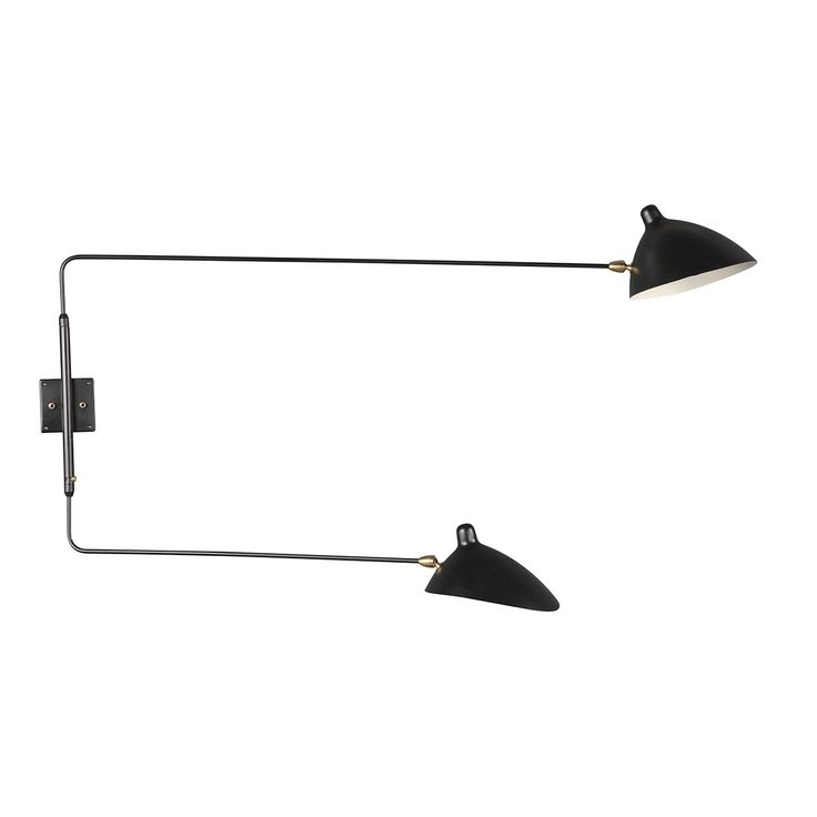 MSC-R2 Rotating Wall Sconce - Two Arm Straight http://www.franceandson.com/mid-century-modern-msc-r2-rotating-wall-sconce-two-arm-straight.html