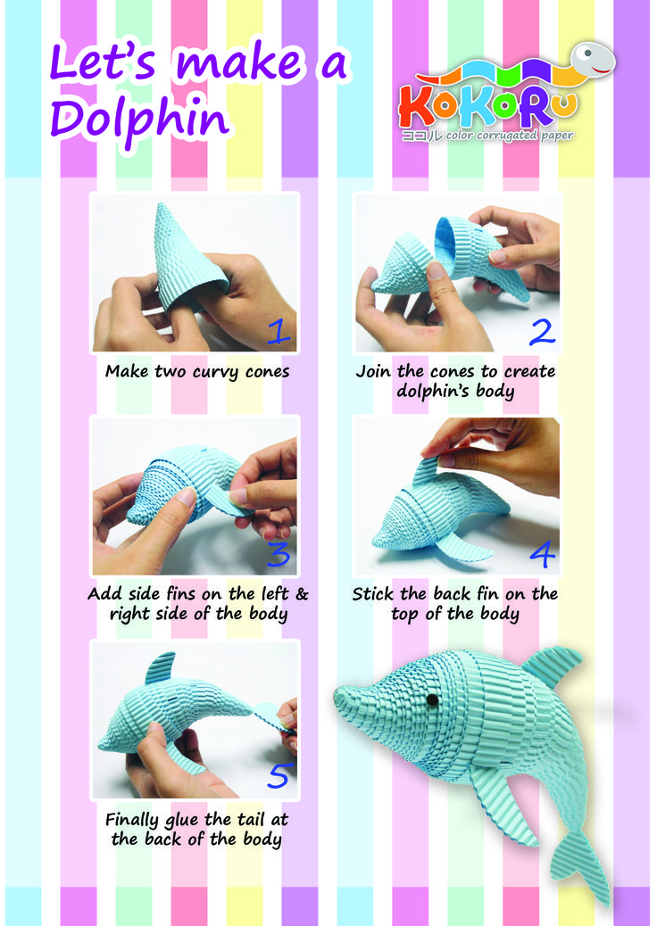 how to make dolphin #kokoru
