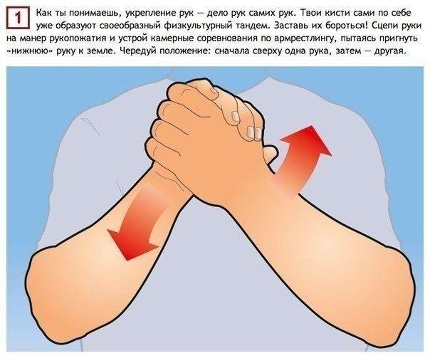 Простые упражнения, тренирующие все 27 мышц рук.