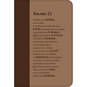 FORRO PARA BIBLIA - SALMO 23 - PIEL DUOTONO - CAFÉ