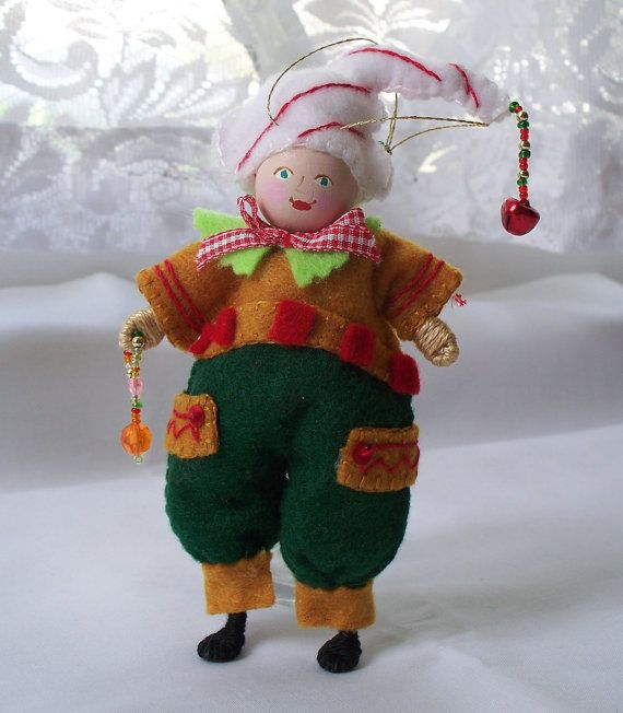 Christmas Tree Ornament Fun Christmas Elf Felt by WhisperingOak