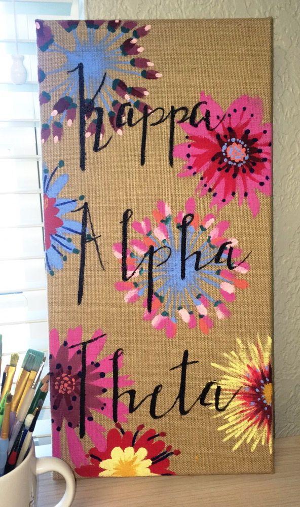 burlap & acrylic ~ Kappa Alpha Theta