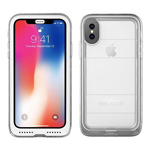 iPhone X Case | Pelican Marine Waterproof Case for iPhone X (Clear) – GSMKingpin.com