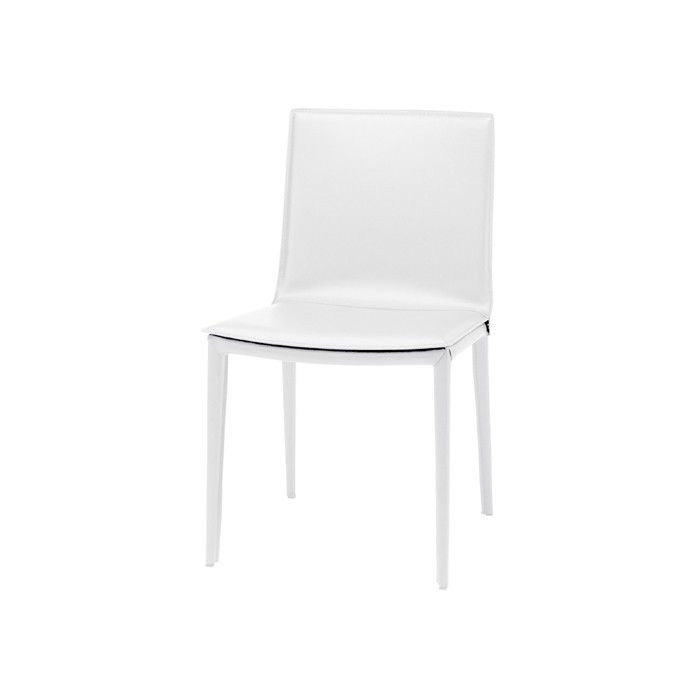 Palma White Leather Dining Chair