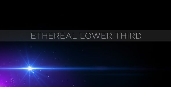 Ethereal Lower Third customizable After Effects lower third project template for video.