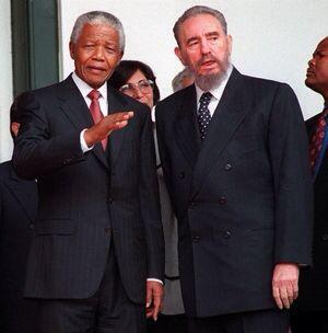 Revolutionary leaders Nelson Mandela (South Africa) and Fidel Castro (Cuba)