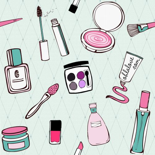 Background patterns: Cosmetics | BerryKissed.com