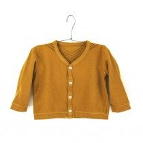 Cardigan molleton Moutarde