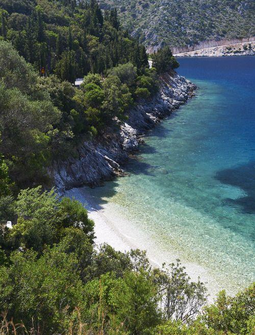 ithaka island ,kourvoulia beach,ionian sea