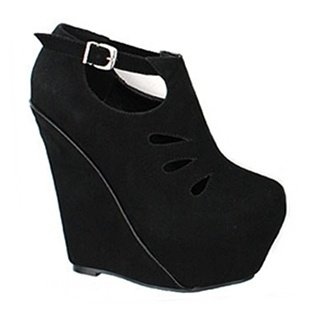 [SHOESONE.BIZ] 1242  Cut Out Suede Hidden Wedged platforms (13.5cm)