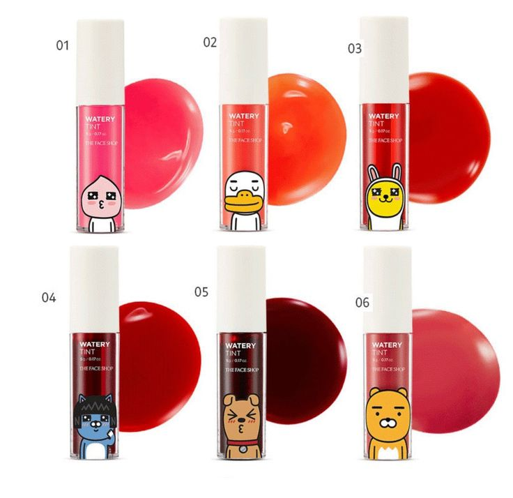 THE FACE SHOP Kakao Friends Watery Tint - Strawberrycoco
