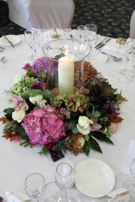 Flower Design Events: Hurricane lamp table design