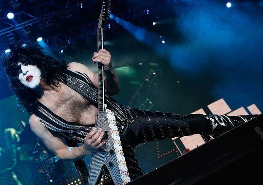 Paul Stanley of Kiss performs in London.