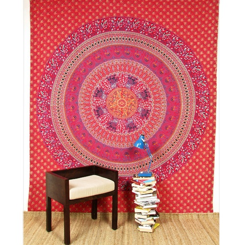 Indian Bedding Sheet Bedspread Throw Tapestry Wall Hanging Ethnic Floral Decor | eBay