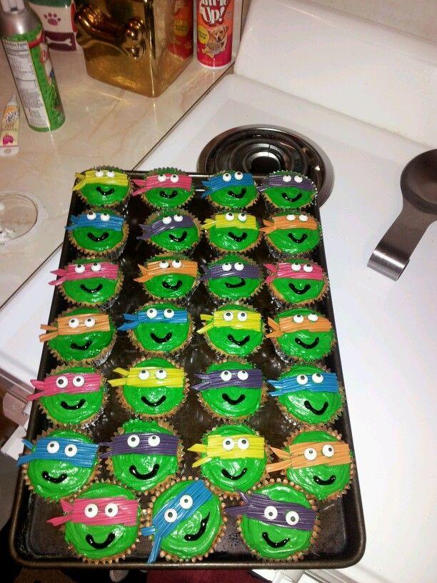 Ninja Turtle Cupcakes Foodie Pinterest Walmart
