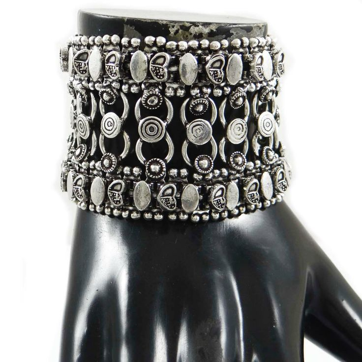 This is a beautiful ethnic silver tone oxidize metal bracelet which will give you more charms to your jewelry collection. ..this is img