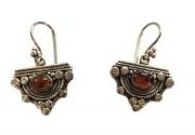 Stirling Silver Earrings - Amber semi precious stones  $24.00