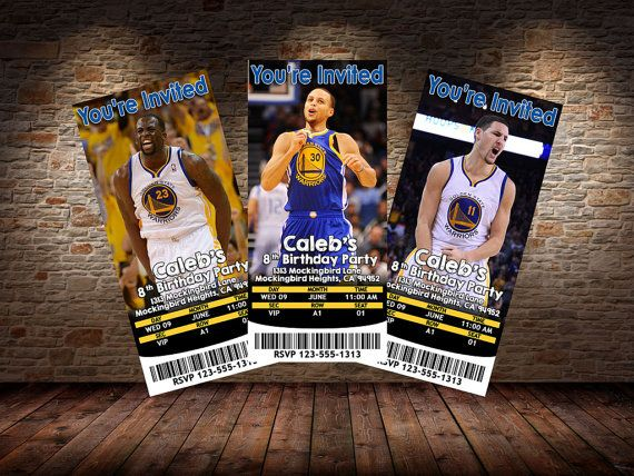 Golden State Warriors Themed Invitations  by MysteryBoxStudio
