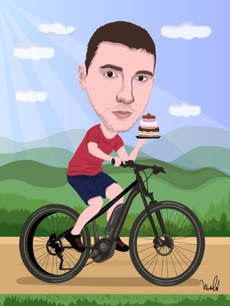 Gifts For Cyclist, Coworker Gift, Colleague Gift, Caricatures From Your Photos, Custom Gift For Cyclist, Portrait From Photo, Printable
