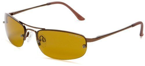 Eagle Eyes Solare  Polarized Sunglasses,Copper Frame/Gold Brown Lens,one size Eagle Eyes. $60.00. Arm: 130 millimeters. Bridge: 15 millimeters. Lens width: 60 millimeters. Made in China. Lens height: 35 millimeters. Polarized. TriLenium lens. 100% UV protection coating. Metal frame
