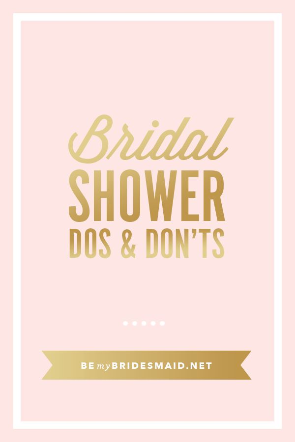 Etiquette For Bridal Showers - Wedding Planning Tips