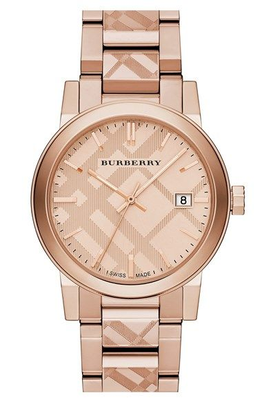 Burberry Check Stamped Bracelet Watch, 38mm available at #Nordstrom