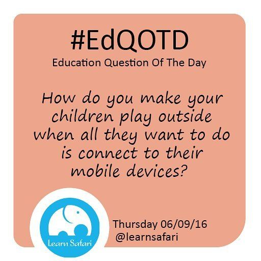 Summer is all about sunshine and perfect weather but kids just want to play indoors!  How do you make them go and play outside?  #EdQOTD #QOTD #parenting #mommylife #summer #sunshine #outdoors #smartapp #edtech #education #