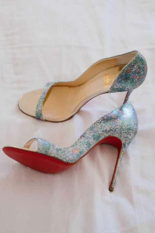afbd16a6380 Mermaid-inspired wedding shoes - iridescent wedding shoes by Christian  Louboutin