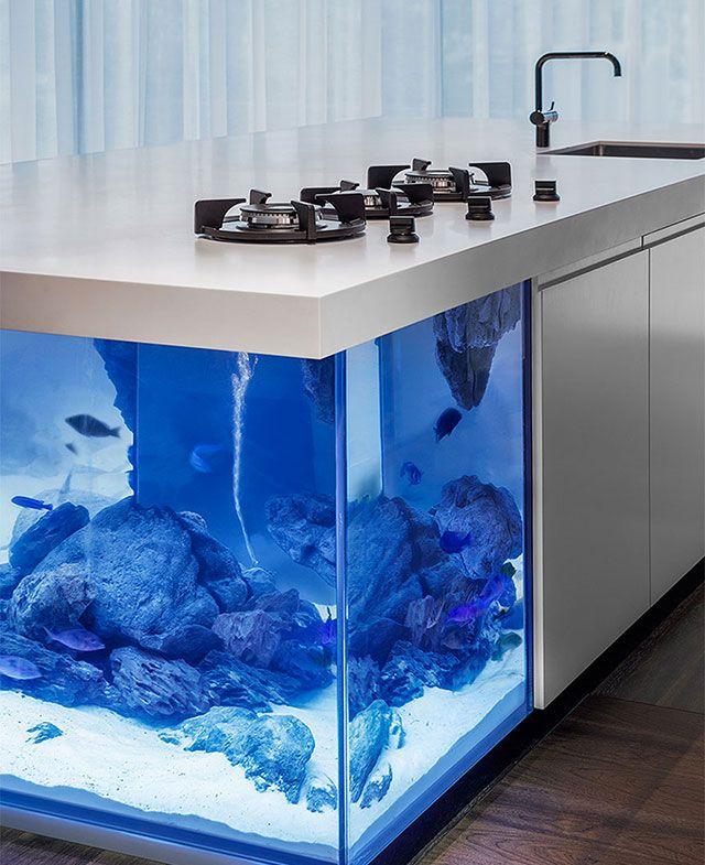 A Kitchen Very Design Aquarium   Une Cuisine Aquarium Très Design