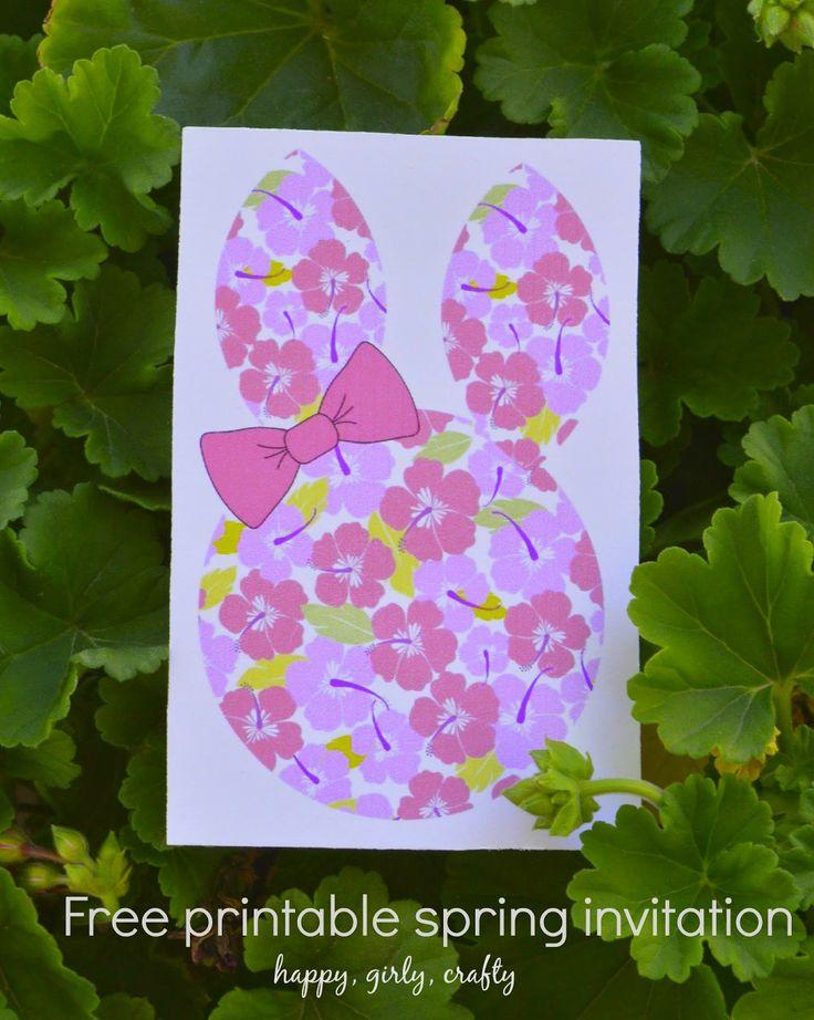 Spring printable (bunny) birthday party invitation! / Τα πρώτα μας γενέθλια : η πρόσκληση! (δωρεαν εκτυπώσιμο!)