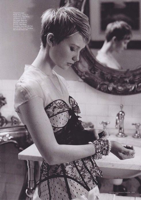 VINTAGE adoré: Inspirations de Coiffure Vintage: recadrée Pixie cheveux
