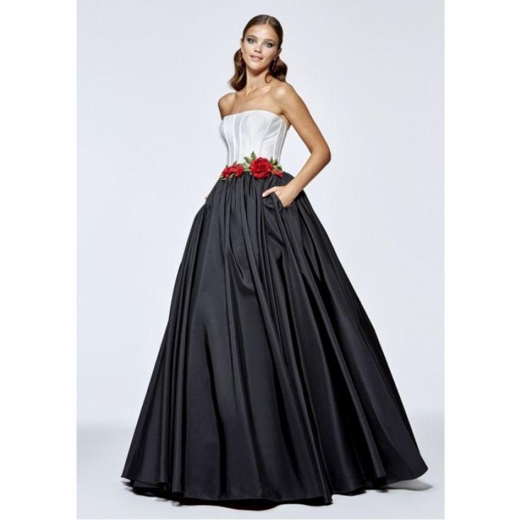 Kleider lang schwarz weiss