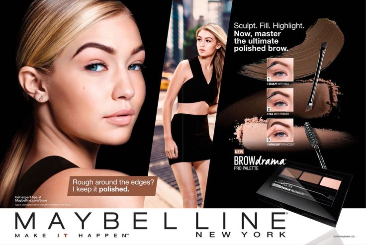 Maybelline Cosmetic Advertising with Gigi Hadid