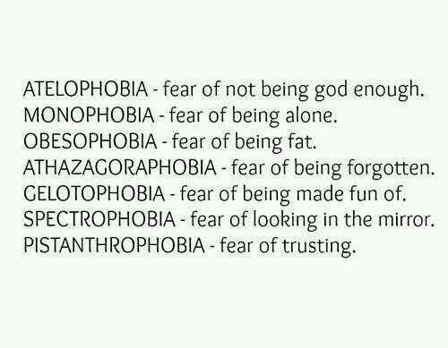 Fear of losing someone you love phobia name