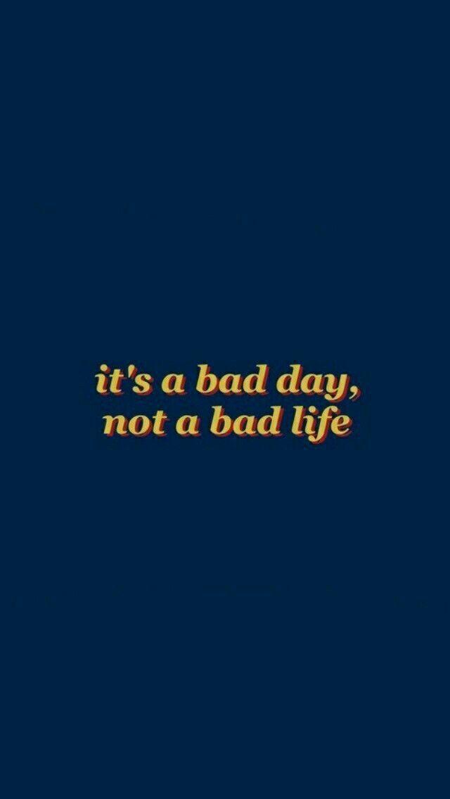 Wallpaper Dark Blue Orange Text Good Life Quotes