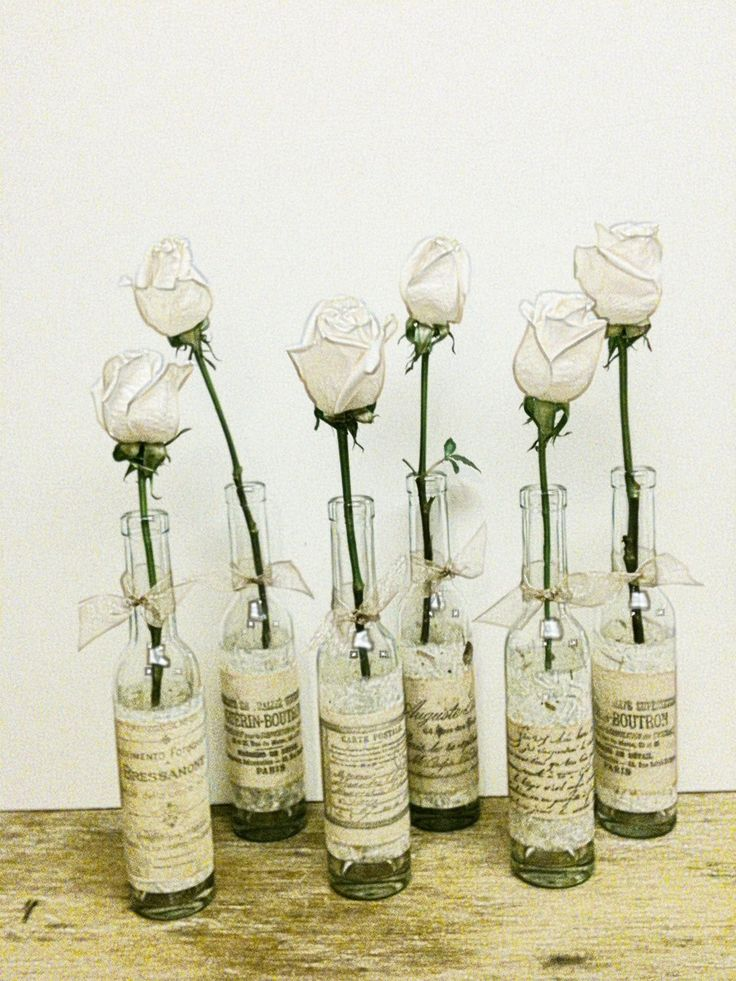 Rustic wedding one paris bedroom decor french country bottle vase french nordic bottle - Great decorative flower vase designs ...