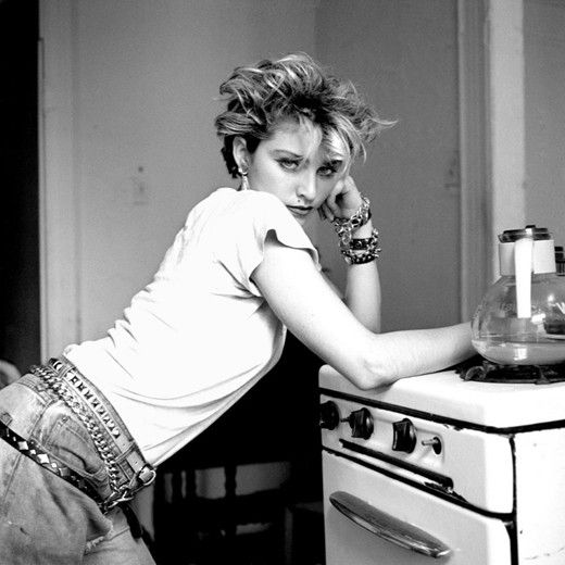 Madonna in a Lower East Side apartment, New York City, 1982, shot by Richard Corman