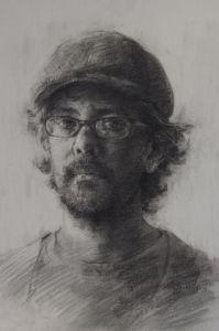 charcoal, Charcoal drawing, Portrait, robert bean, Lowe Mill Arts and Entertainment, Huntsville AL,