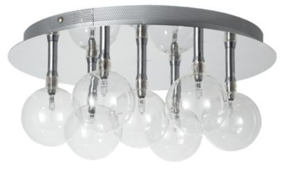 Cluster Clear Glass with 7 Ball Flush, 5052931039548