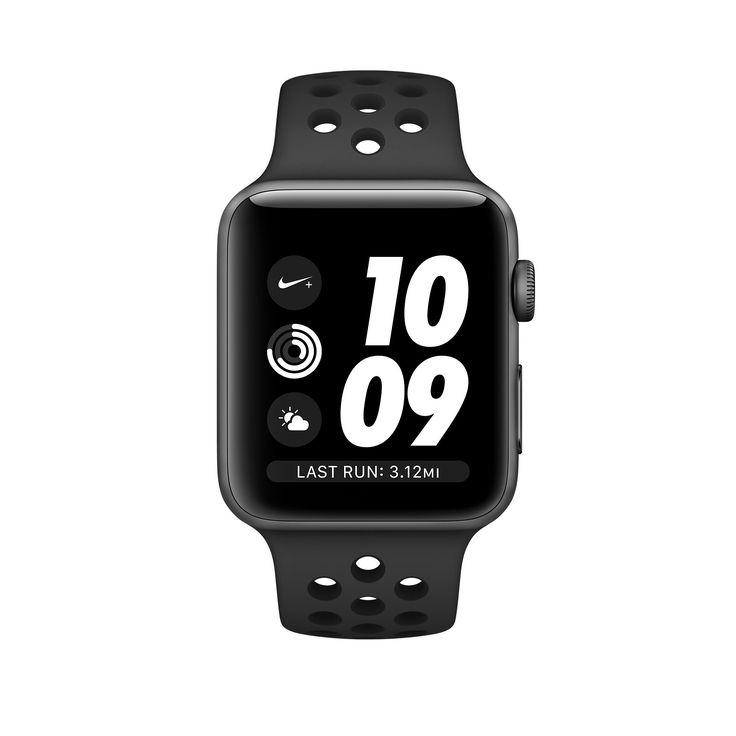 Achetez l'AppleWatch Nike+ avec boîtier en aluminium grissidéral et BraceletSport Nike Grisfoncé/Noir de 38mm et 42mm. Avec GPS intégré. Commandez dès maintenant pour profiter de la livraison gratuite.