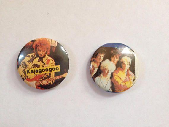 Kajagoogoo Nick Askew Badges pins Original 1980s British