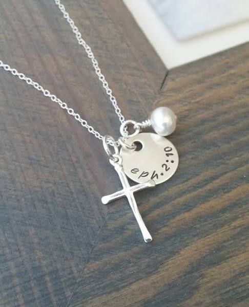 18 best spiritual gift ideas images on pinterest find this pin and more on spiritual gift ideas sterling silver cross necklace with custom bible verse negle Choice Image