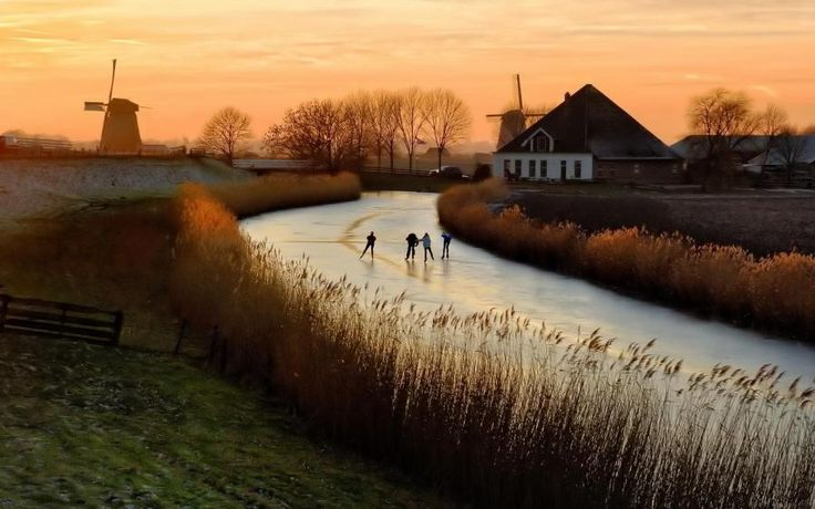 Holland?  I would love to skate on a frozen river