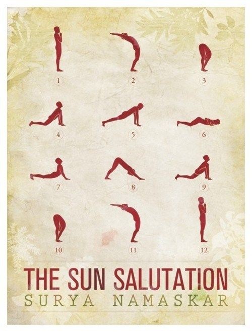 Salute to the Sun, a great way to wake up in the morning