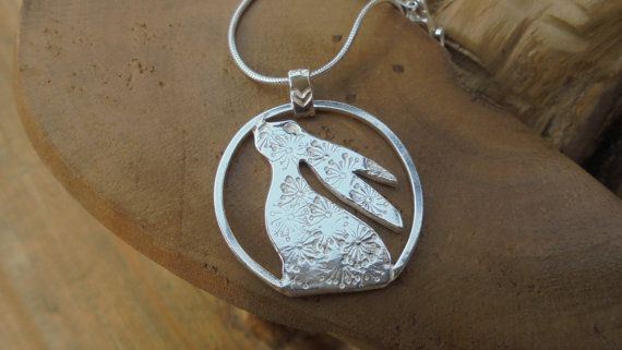 Moon+gazing+Hare+Personalised+and+in+solid+by+SilverBlessings