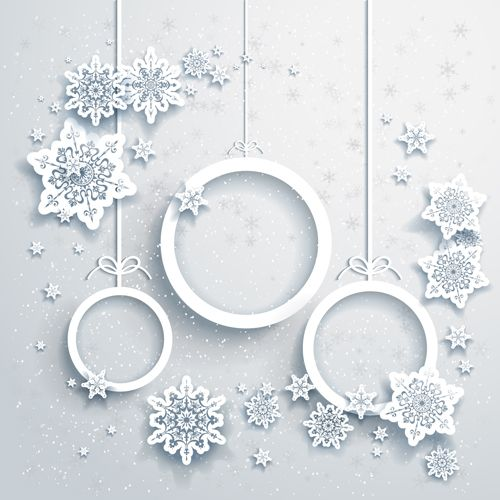 Beautiful snowflakes christmas backgrounds vector 06 - Vector Background free download