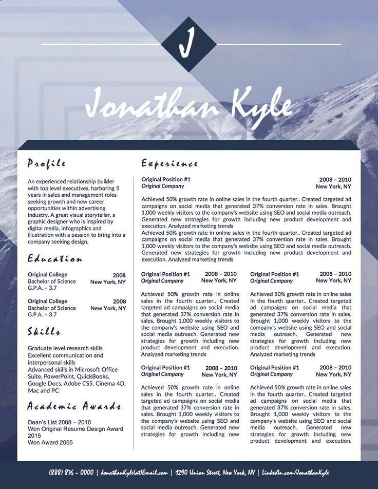 8 best Jonathan Kyle Personal Branding Kit images on Pinterest - mental health nurse resume